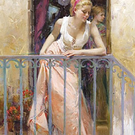 At the Balcony  by Daeni Pino